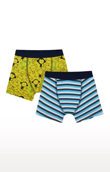 Mothercare   Yellow and Blue Printed Briefs - Pack of 2