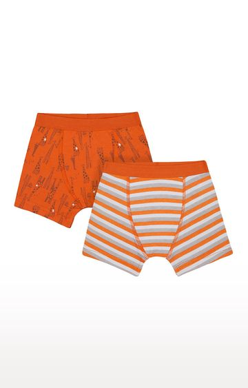 Mothercare | Orange Printed Briefs - Pack of 2