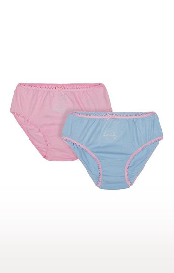 Mothercare | Pink and Blue Solid Panties - Pack of 2