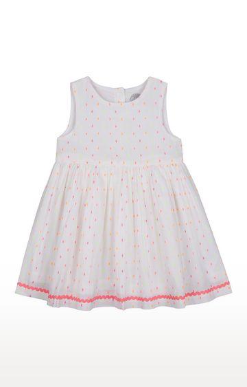 Mothercare   Girls Sleeveless Casual Dress - White