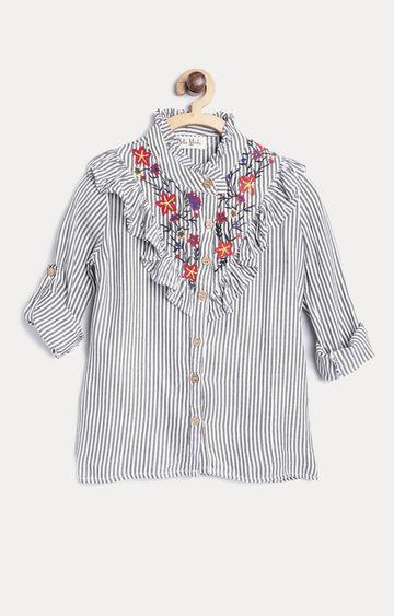 Bellamoda | Grey Striped Shirt