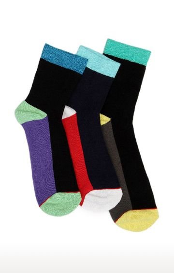 Soxytoes | Multicolour Cotton Calf Length Formal Socks - Pack of 3
