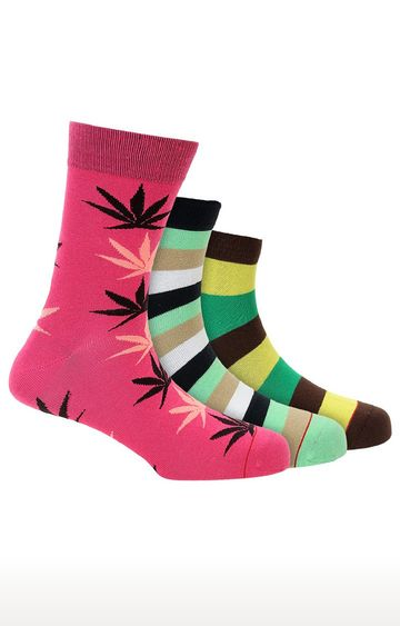 Soxytoes | Multicolour Cotton Ankle Length Casual Socks - Pack of 3