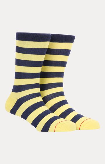 Soxytoes | Yellow and Navy Striped Socks