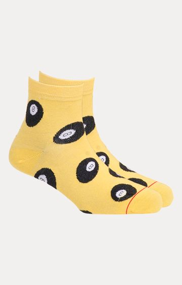 Soxytoes | Yellow Printed Socks