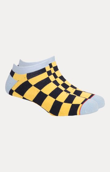 Soxytoes | Yellow and Black Checked Socks