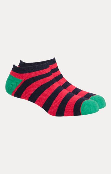 Soxytoes | Red and Black Striped Socks