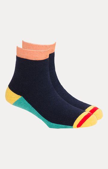 Soxytoes   Navy Colourblock Socks
