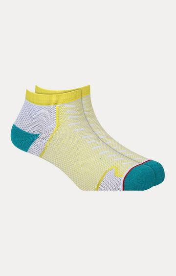 Soxytoes   Yellow Printed Socks
