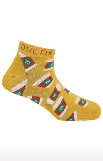 Soxytoes | Adulting 101 Unisex Yellow Free Size Cotton Socks