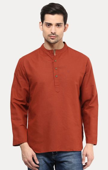 VIVIDS INDIA | Rust Solid Short Kurta