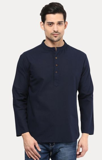 VIVIDS INDIA | Navy Solid Short Kurta