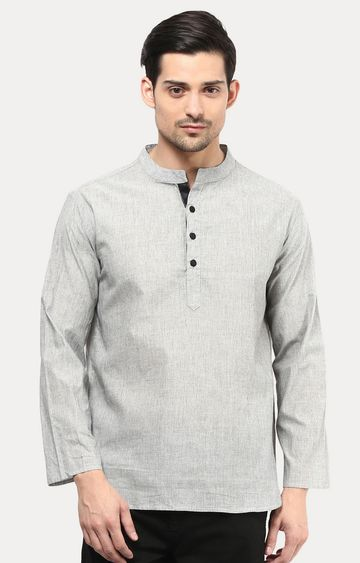 VIVIDS INDIA | Grey Melange Short Kurta