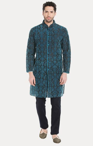 VIVIDS INDIA | Blue Printed Kurta