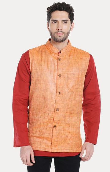 VIVIDS INDIA | Orange Melange Ethnic Jacket