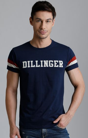 Dillinger | Navy Blue Printed T-Shirt