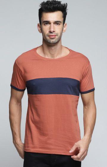 Dillinger | Brown Colourblock T-Shirt