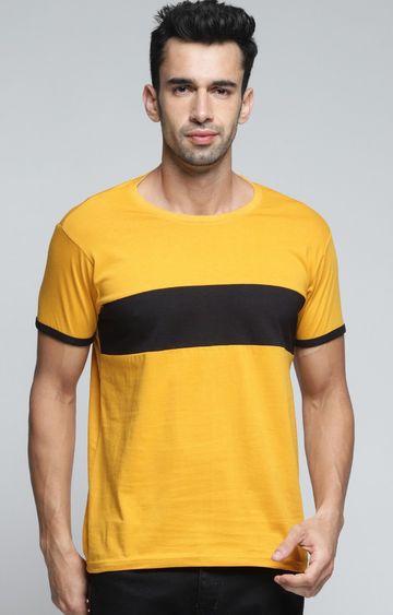 Dillinger   Yellow Colourblock T-Shirt