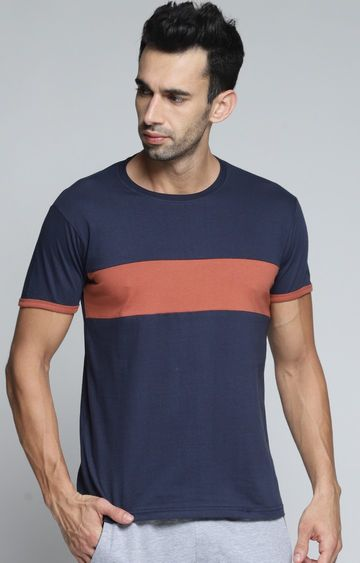 Dillinger | Navy Colourblock T-Shirt