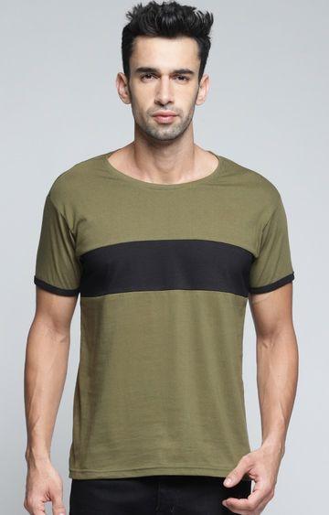 Dillinger | Olive Colourblock T-Shirt