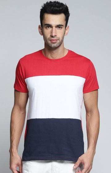 Dillinger | White and Red Colourblock T-Shirt