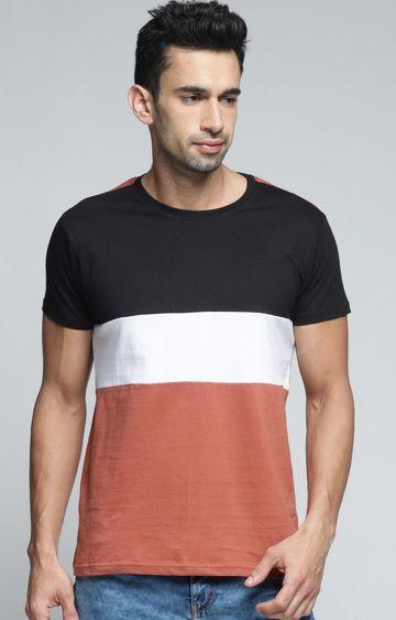 Dillinger   White and Black Colourblock T-Shirt