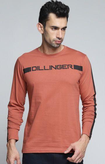 Dillinger | Brown Printed T-Shirt