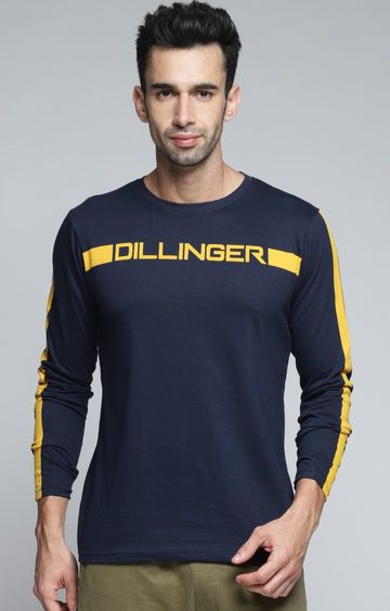 Dillinger | Navy Printed T-Shirt