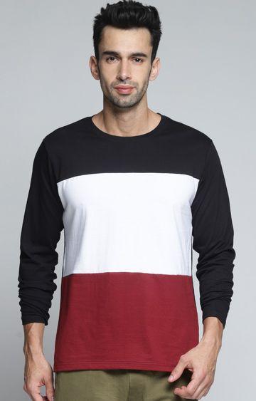 Dillinger   Black and White Colourblock T-Shirt