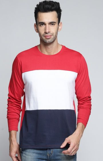 Dillinger | Red and White Colourblock T-Shirt