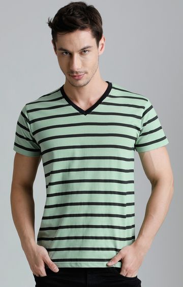 Dillinger | Green Striped T-Shirt