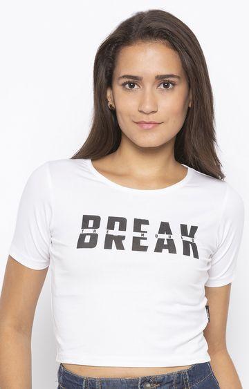 DISRUPT   White Printed T-Shirt