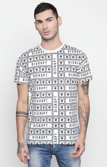 DISRUPT | White Printed T-Shirt