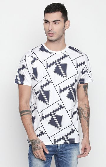 DISRUPT | White Printed T-Shirt