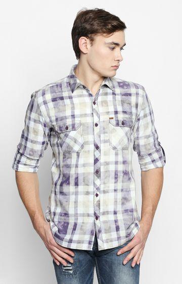 DISRUPT | Purple Checked Casual Shirt