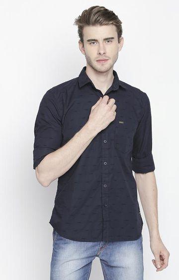 DISRUPT | Navy Striped Casual Shirt