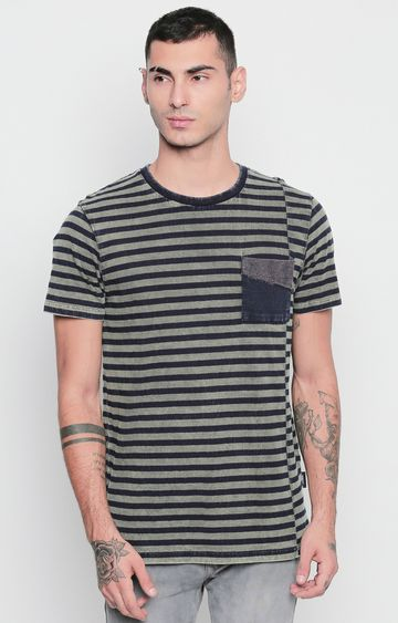 DISRUPT | Green Striped T-Shirt