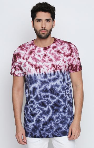 DISRUPT | Blue Printed T-Shirt