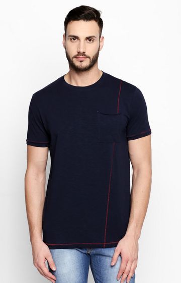 DISRUPT | Navy Solid T-Shirt