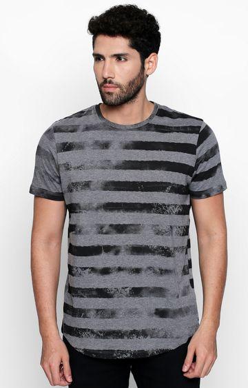 DISRUPT | Grey Striped T-Shirt