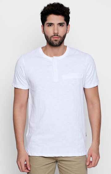 DISRUPT | White Solid T-Shirt