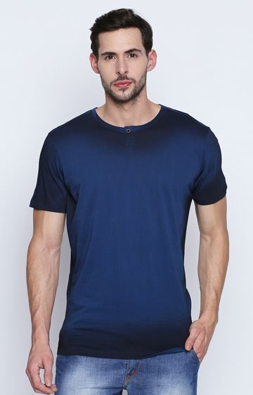 DISRUPT | Blue Solid T-Shirt