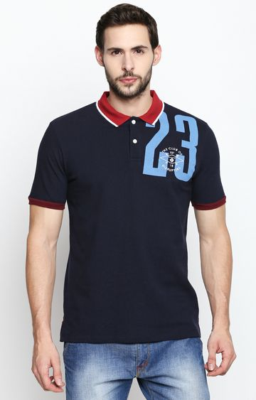 DISRUPT | Navy Solid Polo T-Shirt