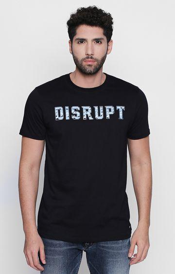 DISRUPT | Black Solid T-Shirt