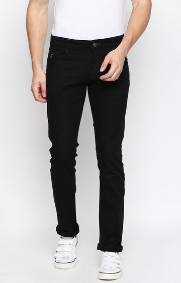 DISRUPT | Black Solid Straight Jeans