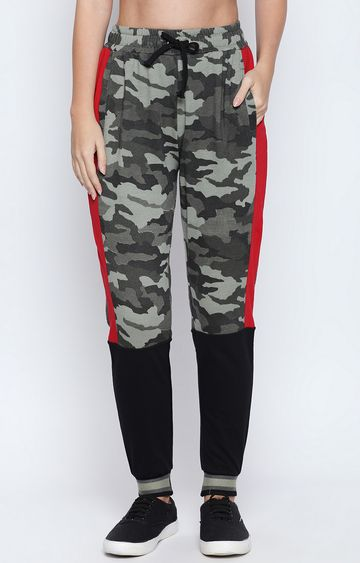 DISRUPT | Olive Printed Casual Joggers