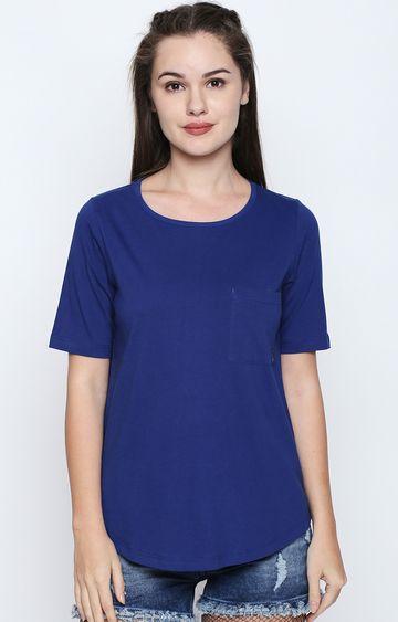 DISRUPT | Royal Blue Solid T-Shirt