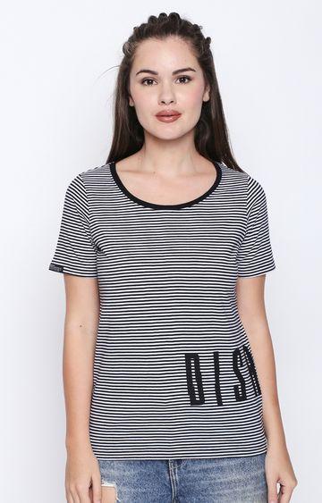 DISRUPT | Black Striped T-Shirt