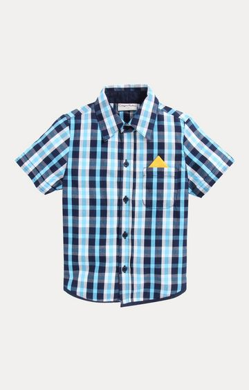Crayonflakes | Turquoise Checked Shirt