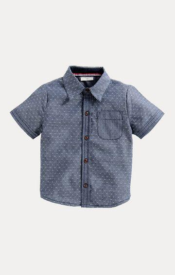 Crayonflakes | Blue Printed Shirt
